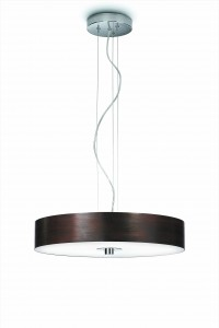 PHILIPS  Ecomoods Energiespar-Pendelleuchte Metall, Glas Chrom/braun, 403391116