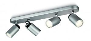 PHILIPS  Ecomoods Energiespar-4er-Spotbalken  aluminium lackiert, 556544816