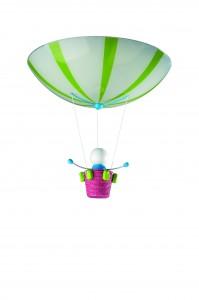 301125510 Deckenleuchte, Multicolour, E27 2x 60 Watt max., Dekorglas, Holz